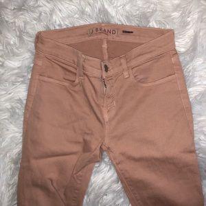 J Brand peach skinny jeans 24